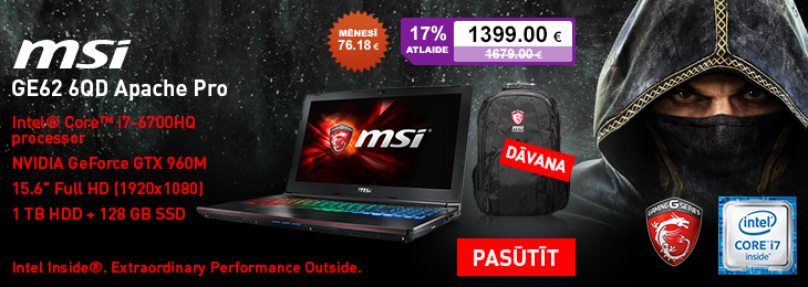 SLIDE MSI GE62 bundle