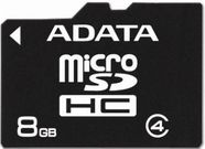 A-Data MICRO SDHC CARD 8GB CLASS 4