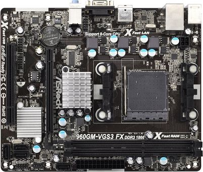 Asrock 960GM-S3 FX THX TruStudio New