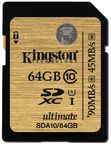 Kingston 64GB SDXC UHS-I Ultimate Class 10