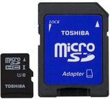 Toshiba 16GB Micro SDHC UHS-I Class 10 + Adapter