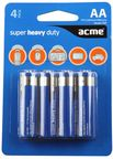 Acme Super Heavy Duty Batteries 4xAA