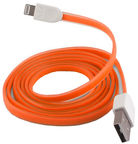 Forever Flat Silicone USB/Lightning Cable iPhone 5/5S/6 Orange