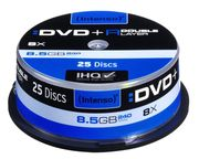 Intenso DVD+R DL 8X 8.5GB Double Layer 25 Pack Spindle