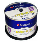 Verbatim DVD+R DL 8X 8.5GB Double Layer Printable 50P Spindle