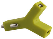 Forever 2in1 Car Charger Y-Not Universal USB Green