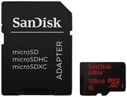 SanDisk 128GB Ultra microSDXC Class 10 UHS-I + SD Adapter