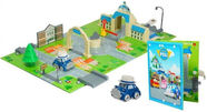 Silverlit Robocar Poli Brooms Town Map City Hall 83279