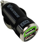 Vakoss Automobile Charger 2 USB Black