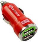 Vakoss Automobile Charger 2 USB Red