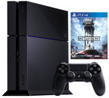 Sony Playstation 4 (PS4) 1TB Black + Star Wars Battlefront