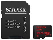 SanDisk 128GB Ultra Android microSDXC Class 10 UHS-I + SD Adapter + Android App