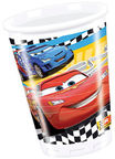 Dajar Cars 2 Plastic Glasses 8pcs Multicolored