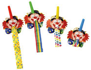 Pap Star Clown Face Whistle 40cm 4pcs