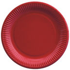 Pap Star Paper Plate 23cm 20pcs Red