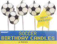 Amscan Soccer Birthday Pick Candles 170661
