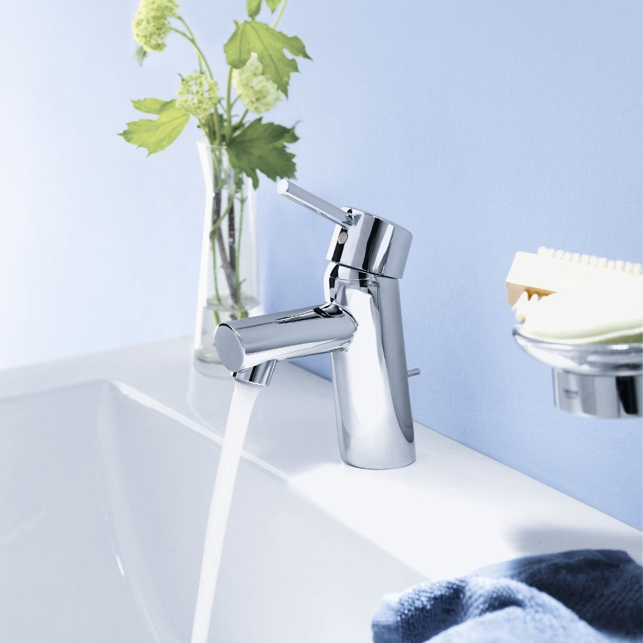 grohe concetto s faucet with pop up chrome