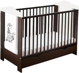 Minikid Ella Baby Bed w/ Drawer 109 Venge/White Giraffe