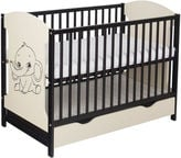 Minikid Miki Baby Bed w/ Drawer Venge/Cream Elephant