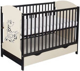 Minikid Miki Baby Bed w/ Drawer Venge/Cream Giraffe