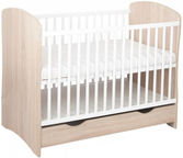 Minikid Panda Baby Bed w/ Drawer Sonoma/White