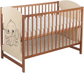 Minikid Miki Baby Bed 103 Walnut/Cream Elephant