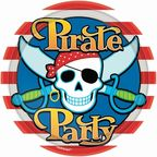 Amscan Pirate Party Paper Plates 8pcs