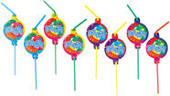 Amscan Balloon Party Drinking Straws 8pcs