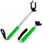 HQ Selfie Stick Universal With Built-in Shutter Button Green
