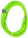 HQ Soft Lightning Cable For Apple 2m Light Green
