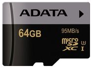 A-Data 64GB Premier Pro microSDXC Class 10 UHS-I U3 + Adapter
