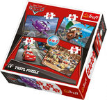 Trefl 4-in-1 Puzzle Journey Disney Cars 34107