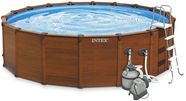 Intex Sequoia Spirit Wood Grain Frame Pool