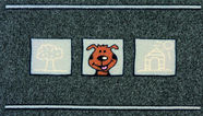 Doormat Flocky Color Dog