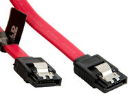 4World HDD Cable SATA 3 Latching 0.2m Red