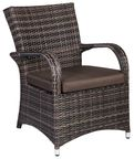Home4You Chair Wicker 5 Dark Brown