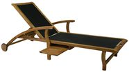 Home4You Deck Chair Future Black