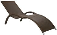 Home4You Deck Chair Meridian Coffee Brown