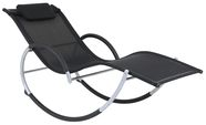 Home4You Deck chair Run Black