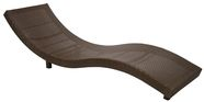 Home4You Deck Chair Wave Brown