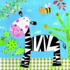 Paw Decor Collection Happy Zebra 33 x 33cm