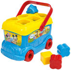 Clementoni Mickey Mouse Shape Sorter Bus 14395