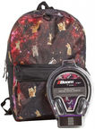 Mojo Crazy Cats in Space Backpack Plus Headphones
