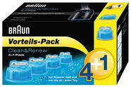 Braun CCR4+1 Clean & Renew Cleaning Cartrige 5-Pack
