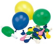 Pap Star Mini Balloons Multicolored 50pcs with Pump
