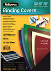 Fellowes Delta A4 FSC Binding Cover Leather Black