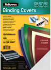 Fellowes Delta A4 FSC Binding Cover Leather Grey