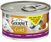 Purina Gourmet Gold Savoury Cake with Lamb and Beans 85g