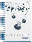 Herlitz Spiral Notepad A6 Fresh Fruit Blueberry 11292133