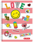 Herlitz Spiral Pad A4 SmileyWorld Girly 50002757